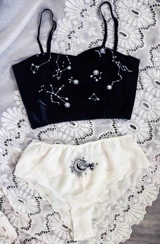 Topé Astrée et culotte nuit blanche